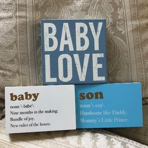 Baby shower or nursery boy decor set